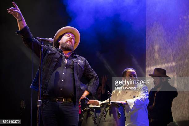 Nathaniel Rateliff and Chef Emeril Lagasse perform during 2017 Boudin Bourbon and Beer at Champions Square on November 3 2017 in New Orleans Louisiana