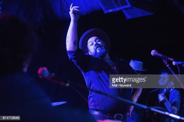Nathaniel Rateliff and the Night Sweats perform during an EndSession hosted by 1077 The End at Chop Suey on February 5 2018 in Seattle Washington