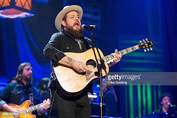 Nathaniel Rateliff performs at Ryman Auditorium on September 21 2016 in Nashville Tennessee
