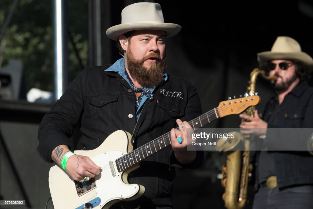 Nathaniel Rateliff performs with The Night Sweats during Fortress Festival on April 30, 2017 in Fort Worth, Texas.