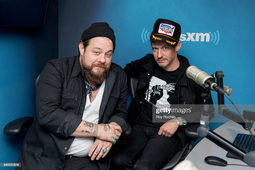 Nathaniel Rateliff & The Night Sweats members Nathaniel Rateliff and Joseph Pope III visit at SiriusXM Studios on December 11, 2017 in New York City.