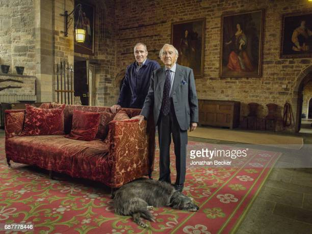 Nathaniel Thomas Allen Fiennes the 21st Baron Saye and Sele and Honorable Martin Guy Fiennes are photographed for Great Houses Modern Aristocrats on...
