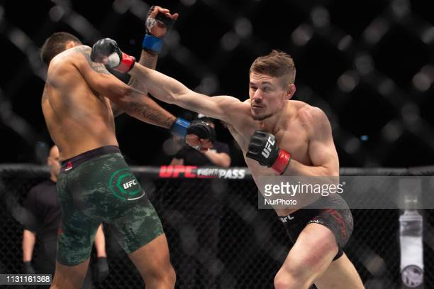 Nathaniel Wood defeats Jose Alberto Quiones by submission during UFC Fight Night 147 at the London O2 Arena, Greenwich on Saturday 16th March 2019.
