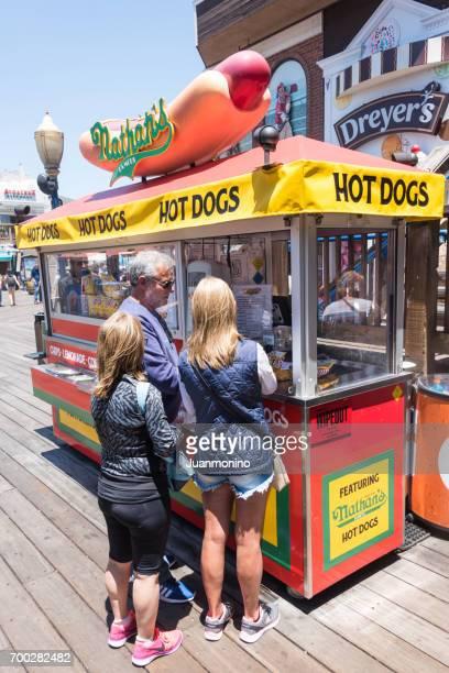 Nathan's Brand Hot Dog Kiosk