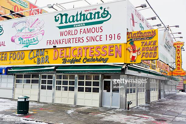 Nathan's Famous fast food restaurant Coney Island