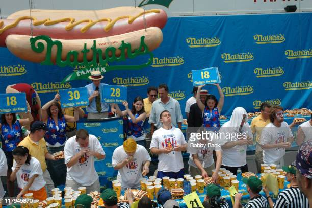 Nathan's Famous Hot Hog Eating Contest during 91st Nathan's Famous International Hot Dog Eating Contest July 4 2006 at Coney Island in Brooklyn New...