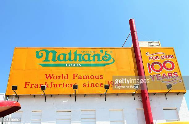 Nathan's Famous in Coney Island in Brooklyn New York on April 14 2016