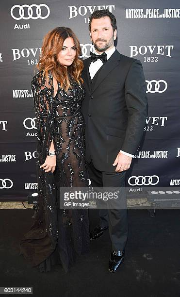 Nathasha Koifman and Anthony Mantella attend The Artists For Peace and Justice Gala at Casa Loma on September 11 2016 in Toronto Canada