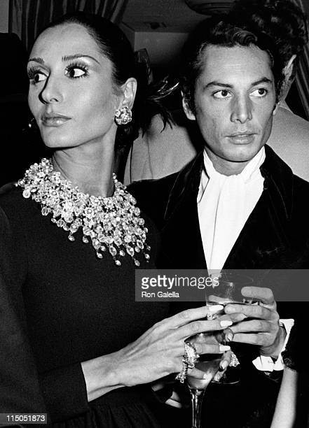 Nati Abascal and Guy Burgos attend Le Bal Blanc Gala on January 13 1969 at the St Regis Hotel in New York City
