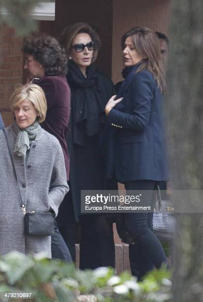 Nati Abascal and Nuria Gonzalez express their condolences to Marichalar family on March 14 2014 in Madrid Spain Princess Elena of Spain's ex...