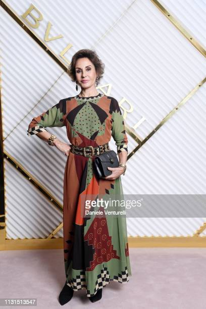 Nati Abascal attends BVLGARI Dinner Party Milan Fashion Week FW19 on February 22 2019 in Milan Italy