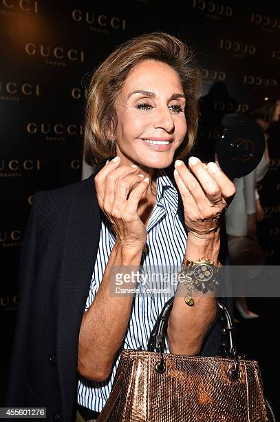 Nati Abascal attends Gucci Beauty Launch Event Hosted By Frida Giannini during the Milan Fashion Week Womenswear Spring/Summer 2015 on September 17...