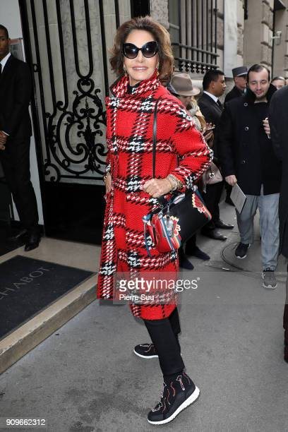 Nati Abascal attends the Elie Saab Haute Couture Spring Summer 2018 show as part of Paris Fashion Week on January 24 2018 in Paris France