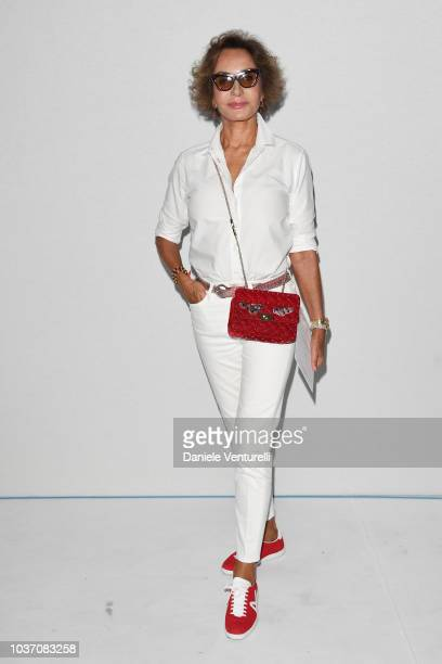 Molly Chiang and guest attend the Sportmax show during Milan Fashion Week Spring/Summer 2019 on September 21 2018 in Milan Italy