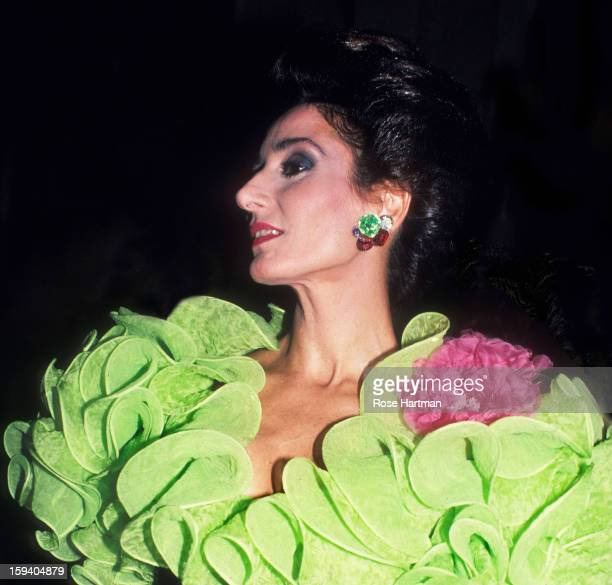 Nati Abascal , Spanish Institute gala, Plaza Hotel, New York, New York, early to mid 1980s.