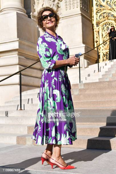 Nati Abascattends the Giorgio Armani Prive Haute Couture Fall/Winter 2019 2020 show as part of Paris Fashion Week on July 02 2019 in Paris France