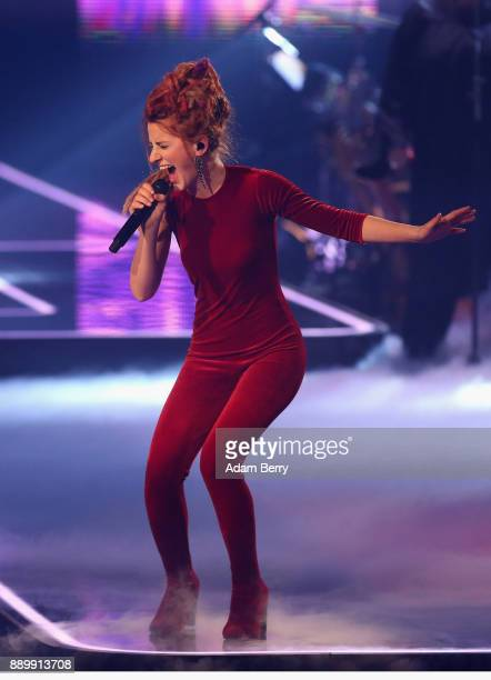Natia Todua performs during the 'The Voice of Germany' semifinals at Studio Berlin Adlershof on December 10 2017 in Berlin Germany The finals will be...