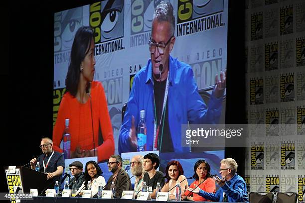 DIEGO 'Z Nation Panel Press Room' Pictured Craig Engler DJ Qualis Kelita Smith Keith Allan Russell Hodgkinson Nat Zang Anastasia Baranova Pisay Pao...