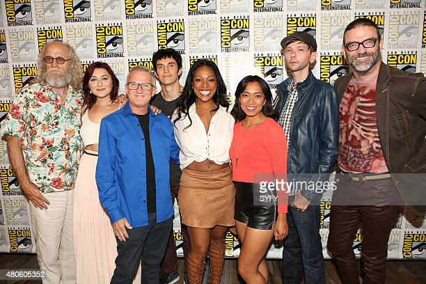 DIEGO 'Z Nation Panel Press Room' Pictured Russell Hodgkinson Anastasia Baranova Karl Schaefer Executive Producer Nat Zang Kelita Smith Pisay Pao DJ...