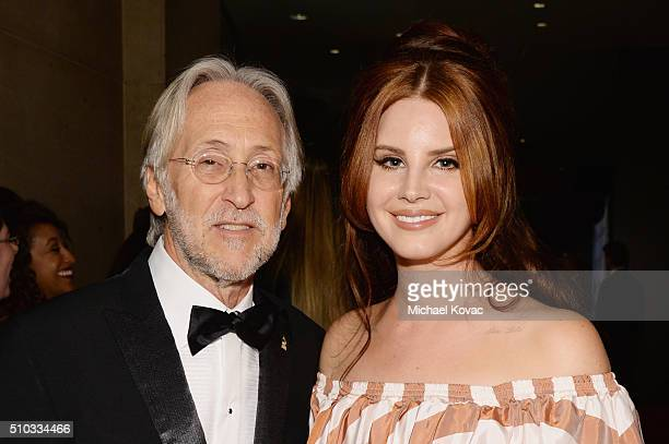National Academy of Recording Arts and Sciences Neil Portnow and singer Lana Del Rey attend the 2016 PreGRAMMY Gala and Salute to Industry Icons...