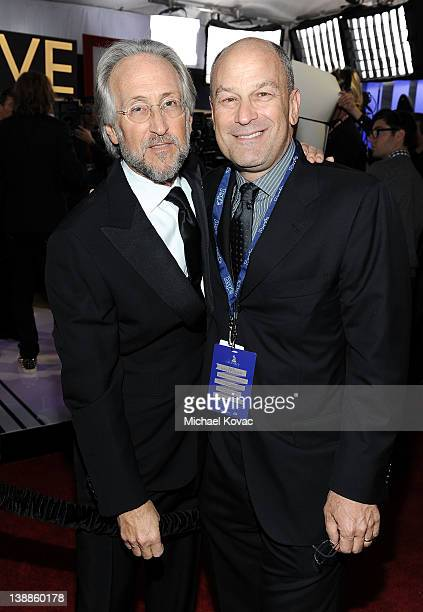 National Academy of Recording Arts and Sciences President Neil Portnow and Chairman & CEO of Island Def Jam and Universal Motown Republic Group Barry...