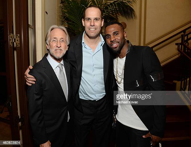 National Academy of Recording Arts and Sciences President Neil Portnow and musician Jason Derulo attend the Billboard Power 100 Event on February 5...