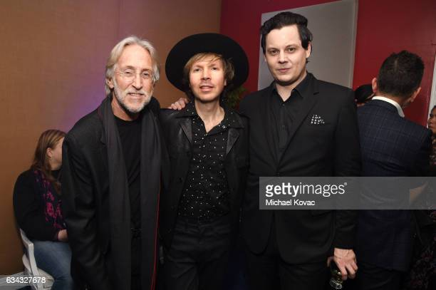 National Academy of Recording Arts and Sciences President Neil Portnow musician Beck and honoree Jack White attend the PE Wing Event honoring Jack...