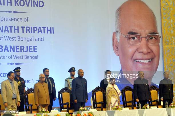 National Anthem President of India Shri Ram Nath Kovind during West Bengal Government Felicitate to President of India Shri Ram Nath Kovind At Netaji...