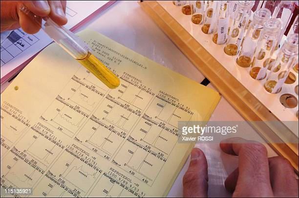 National antidoping laboratory in Chatenay Malabry France on August 30 2005 After chemical analysis positive test to anabolic steroid