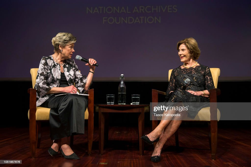 National Archives Foundation Honors Laura Bush With Records Of Achievement Award At Annual Gala : News Photo
