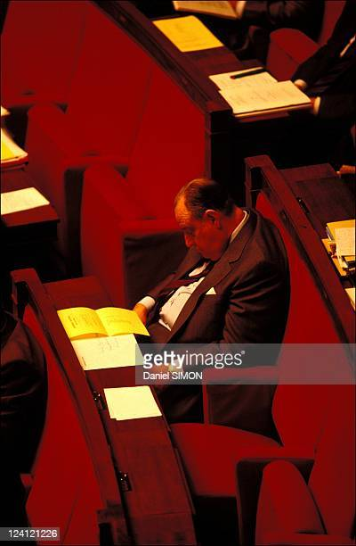 National Assembly Debate on the CSG in Paris France on November 15 1990