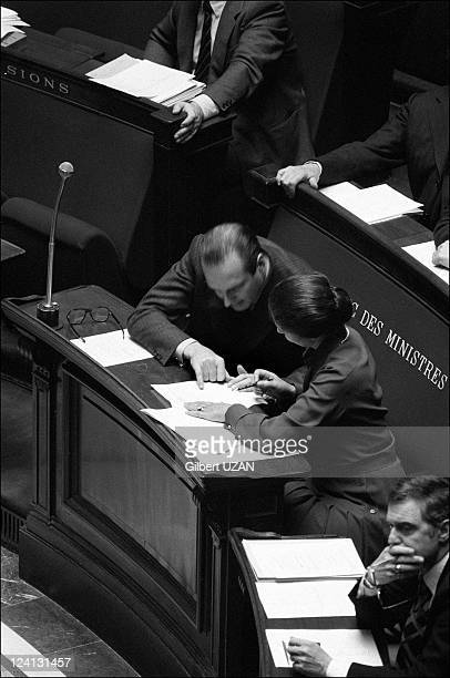 National Assembly debate over abortion headed in Paris France in November 1974 Jacques Chirac and Simone Veil