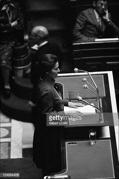 National Assembly debate over abortion in Paris France in November 1974 Simone Veil