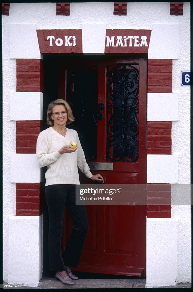 National Assembly Deputy for the Pyrenees-Atlantiques region, Michele Alliot-Marie, relaxes in her home town of Ciboure.   Location: Ciboure, France.