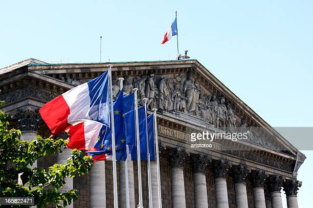 assemblée nationale in paris - franse cultuur stockfoto's en -beelden