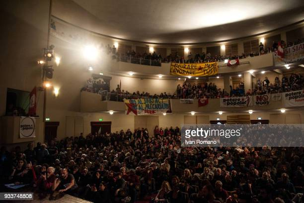 National assembly of the italian political party Potere al Popolo at the Teatro Italia on March 18 2018 in Rome Italy The extremeleft party founded...