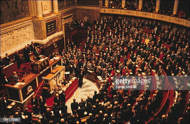 National Assembly vote on French intervention in the Gulf war in Paris France on January 16 1991