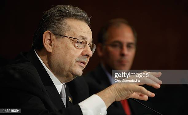 National Association of Realtors President Maurice Veissi testifies before the Senate Banking Housing and Urban Affiars Committe on Capitol Hill May...