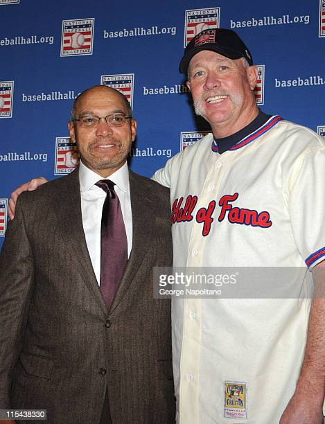 National Baseball Hall of Fame member and former New York Yankees teammate Reggie Jackson gets together with Rich Goose Gossage on January 9 2008...