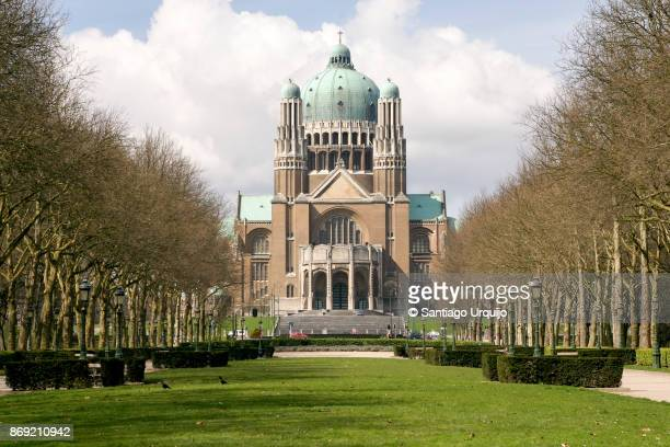 national basilica of the sacred heart - brussels capital region stock photos and pictures