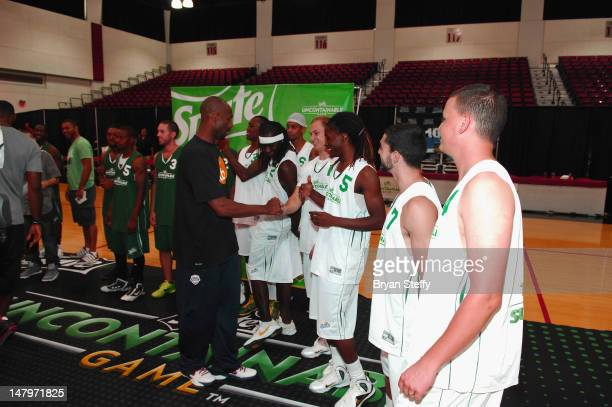 National Basketball Association Player Kobe Bryant attends the Sprite Uncontainable Game Captian's Event on July 6, 2012 in Las Vegas, Nevada.