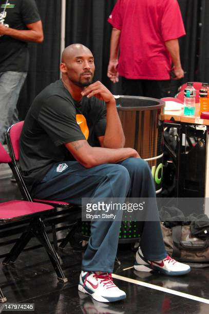 National Basketball Association player Kobe Bryant attends the Sprite Uncontainable Game Captain's Event on July 6 2012 in Las Vegas Nevada