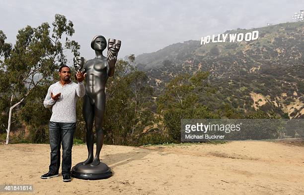 National Board Member Jason George attends SAG Awards's Actor visit to the Hollywood Sign on January 20 2015 in Hollywood California 25184_008