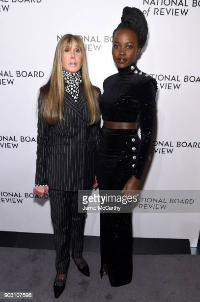 National Board of Review President Annie Schulhof and Lupita Nyong'o attend the The National Board Of Review Annual Awards Gala at Cipriani 42nd...