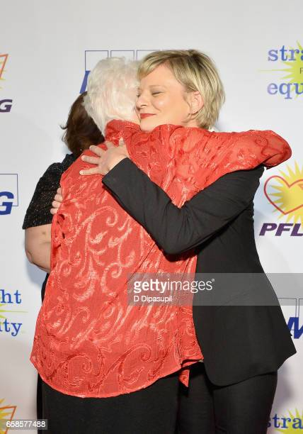 National Board President Jean Hodges and Entertainment honoree Martha Plimpton attend the ninth annual PFLAG National Straight for Equality Awards...