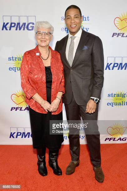 National Board President Jean Hodges and Media Presenter, journalist Don Lemon attend the ninth annual PFLAG National Straight for Equality Awards...