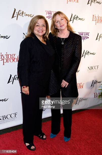 National Breast Cancer Coalition President Fran Visco and actress Amy Madigan attend the Lifetime and NBCC screening of the Lifetime Original Movie...