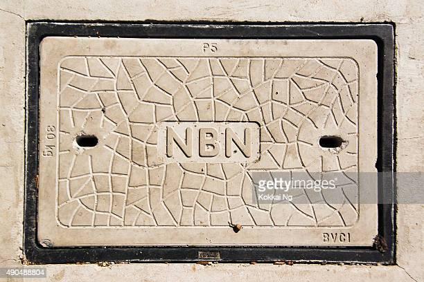 national broadbank network (nbn) manhole - national landmark stock pictures, royalty-free photos & images