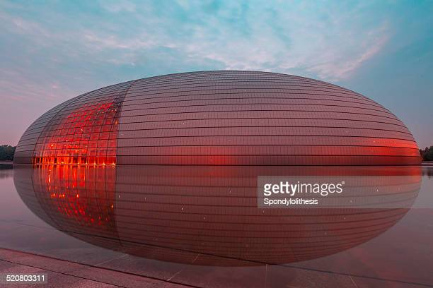 national center for the performing arts in beijing - performing arts center stock pictures, royalty-free photos & images
