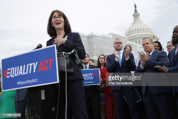 National Center for Transgender Equality Executive Director Mara Keisling addresses a rally and news conference with Rep David Cicilline Human Rights...